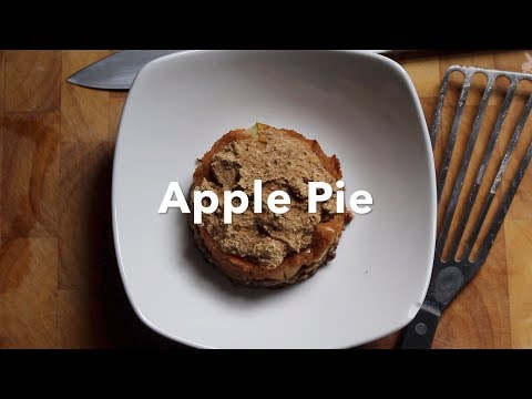 Vegan Apple Pie  (Gluten Free, Oil Free, Sugar Free)