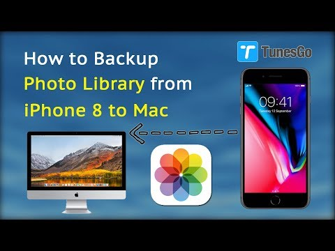 How to Backup Photo Library from iPhone 8 to Mac