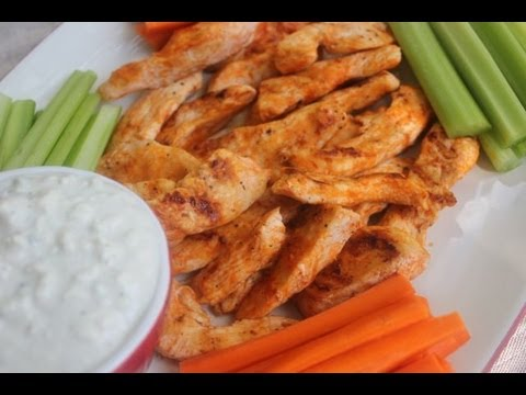 Grilled Buffalo Tenders Recipe with Gorgonzola Dressing