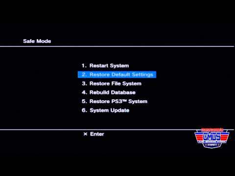 How To Put Your PS3 in Safe Mode in Real Time