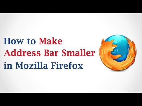 How to Make an Address Bar Smaller in Mozilla Firefox