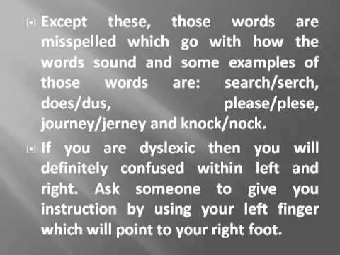 Simple ways of testing dyslexia
