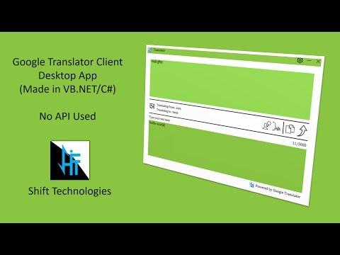 Google Translator (Desktop App)   VB.NET/C# (No API) Flat UI   with Source Code
