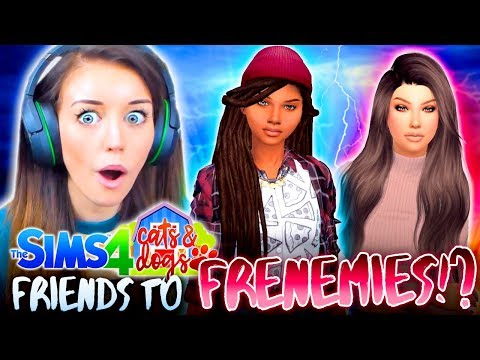 😡FRIENDOS TURN INTO FRIENEMIES!?😡 (The Sims 4 CATS & DOGS #21 🏖)