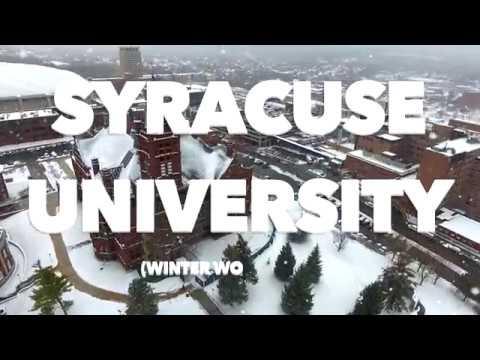 SYRACUSE UNIVERSITY SNOWFALL 4k (DJI PHANTOM 4 DRONE)