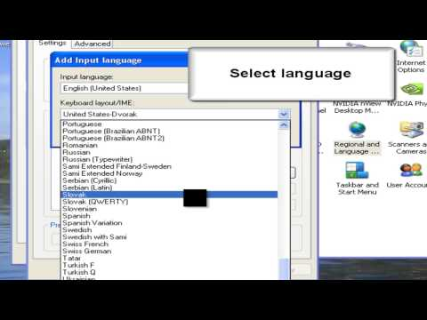 How To Change language on Windows XP