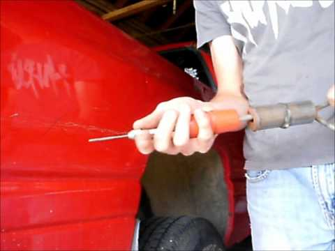 how to pull, bondo, sand, and primer dents (part 1)