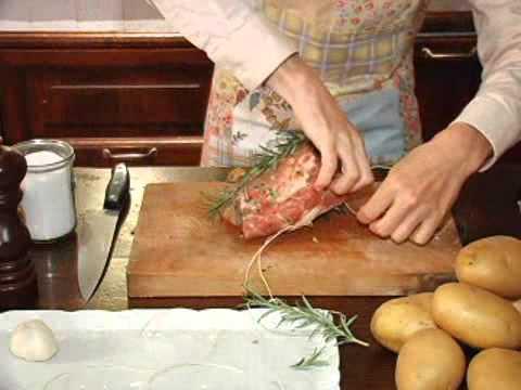Mestolando on il ricettario. Arista alla Fiorentina, pork roast with herbs