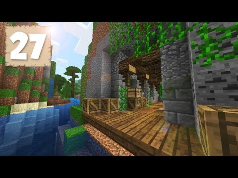 FISHING PORT TUNNEL!!! - Survival Let's Play Ep. 27 - Minecraft 1.2.8