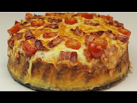 Cheesy Sausage Breakfast Pizza Pie