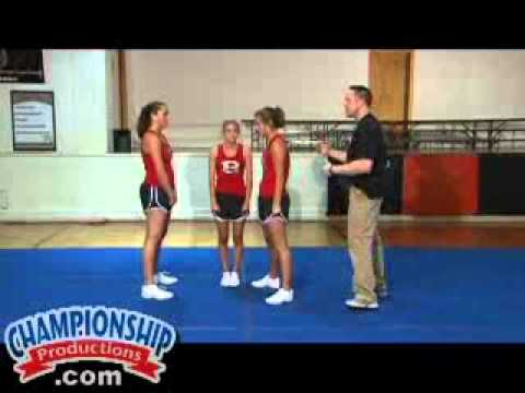 Intermediate and Advanced Cheerleading Stunts, Dismounts, and Transitions Part 2