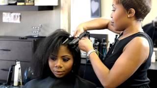 Silk Blowout On Natural Hair