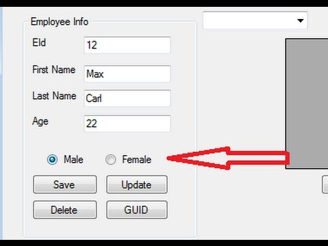 Visual C++ Tutorial 32 -Windows Forms Application: Checkbox , radiobutton and groupbox with Database