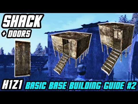 How To Craft SHACKS And METAL/WOODEN DOORS || Basic Base Building #2 // H1Z1