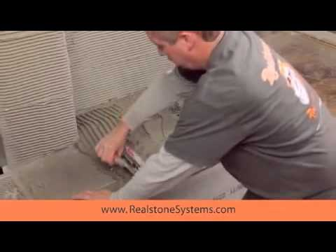 How to install stone veneer on a fireplace Low