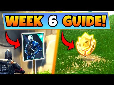 Fortnite WEEK 6 CHALLENGES GUIDE! – POSTER LOCATIONS, Treasure MAP, Omega (Battle Royale Season 4)