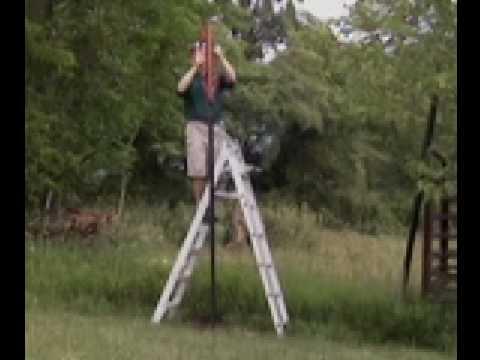 DeerBusters.com Deer Fence:Part 3 Installing Deer Fencing Posts