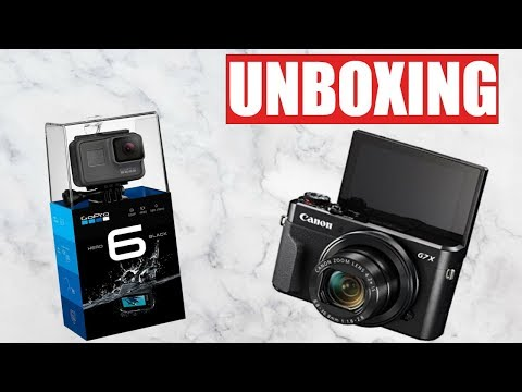 Unboxing my G7X Mark ii and GoPro Hero 6