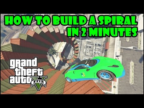 HOW TO BUILD A SPIRAL IN 2 MINUTES - GTA 5 CREATOR TUTORIAL