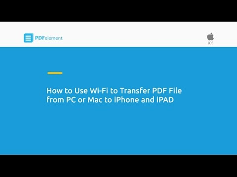 How to Use WiFi to Transfer PDF File from PC and Mac to iPhone and iPad