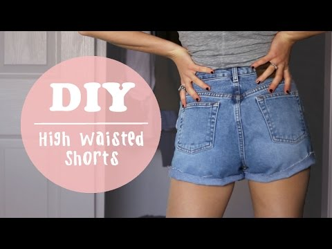 DIY High Waisted Shorts or Distressed Jeans
