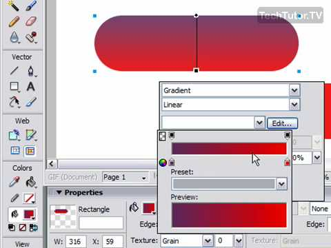 Create a Plastic Button in Fireworks CS3