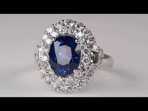4 Carat Blue Sapphire Ring, Fit for a Princess