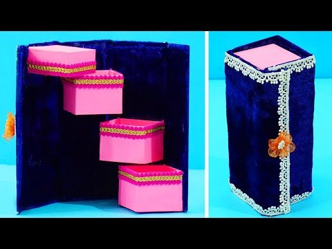 How to Make DIY Jewelry Box | DIY Eco-friendly Best out of Waste Jewelry Organizer/ Holder