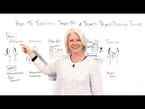 How to Transition People Off a Project - Project Management Training