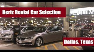 Hertz Ultimate Choice: Car Selection at Dallas Airport (DFW Texas)