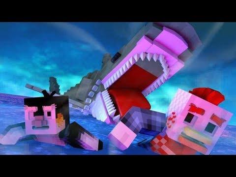 Final Shark Attack Battle Animated! (Minecraft Animation)