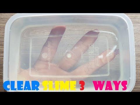 MAKING 3 AMAZING DIY CLEAR SLIMES