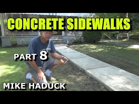 How I float finish concrete (part 6 of 6) Mike Haduck