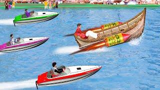 पटाका नाव रॉकेट दौड़ Pataka Boat Rocket Race Comedy Video हिंदी कहानियां Hindi Kahaniya Comedy Video
