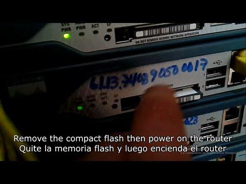 Password Recovery for Cisco Router - Recuperar Contraseña en Router Cisco