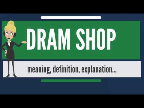 What is DRAM SHOP? What does DRAM SHOP mean? DRAM SHOP meaning, definition & explanation