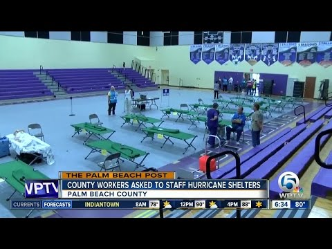 Palm Beach County to ask employees to staff hurricane shelters