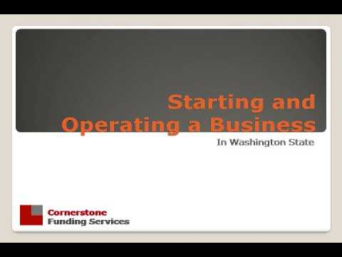 Starting and Operating a Business in WA State Part1