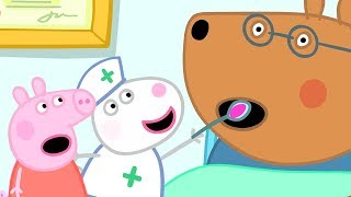 Peppa Pig English Episodes | Looking after Doctor Brown Bear | Peppa Pig Official