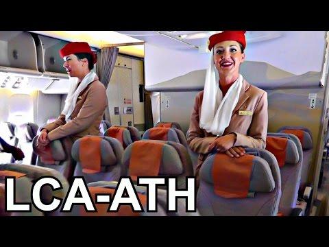 Emirates Boeing 777-300ER - First Flight LCA-ATH - GoPro Wing View - Full Flight - Takeoff/Landing