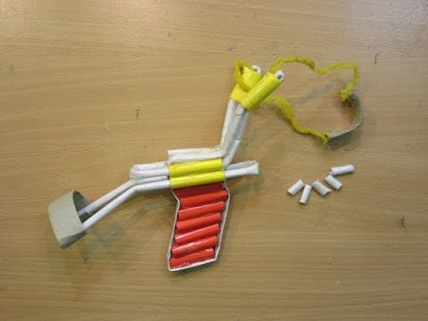 How to make a paper slingshot very simple and strong ( P51 Slingshot ) - Easy Tutorials