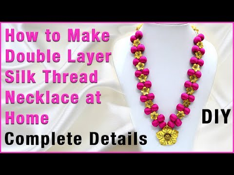 How to make silk thread necklace at home | Jewelry Making | DIY