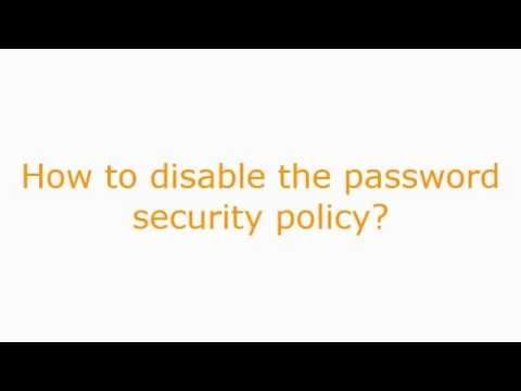 Remove password complexity Windows 2012 Server