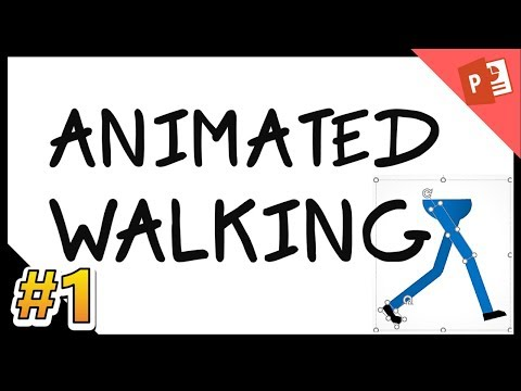 Powerpoint Animation tricks: walk cycle Episode 1/4 .