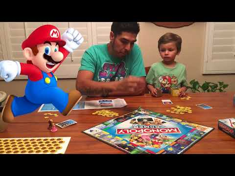 Kids aren't scared of MONSTERS :) MARIO BROS MONOPOLY for Kids! | Who says monopoly is boring?