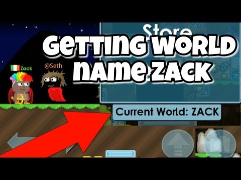 Getting World Name ZACK | Growtopia