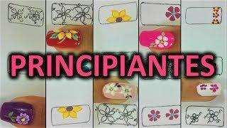 Diseno De Unas Para Pies Flores Como Pintar Flores Facil Flowers