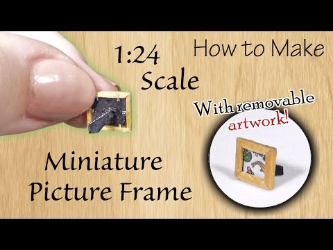 Miniature Picture Frame Tutorial | Dollhouse | How to Make 1:24 Scale DIY