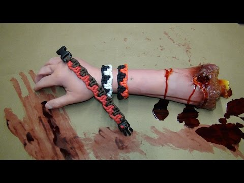 How to make a Zombie Teeth Paracord Bracelet