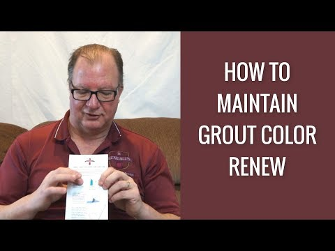 How to Maintain your Grout Color Renew by Rendall's Cleaning (Grout Color Seal)